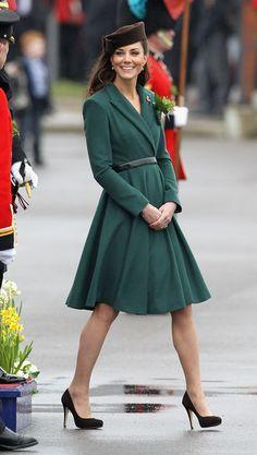 crushing on this emerald coat dress.