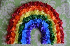 tissue paper rainbow from i heart crafty things