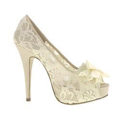 lace wedding shoe