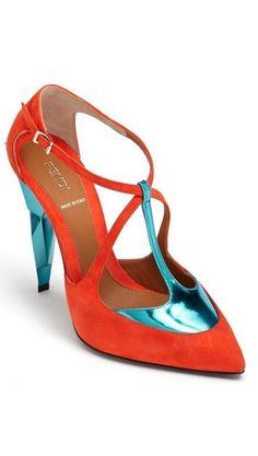 Shoe art from Fendi