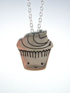 Cupcake Necklace by marmar on Etsy, $32.00