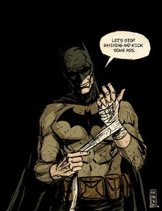 This is how batman gets suited up