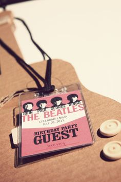 A Beatles inspired party???  Coolest 3-year-old party on the block!