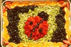 Ladybug fruit platter...yum