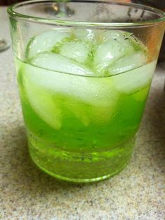 midori sour with homemade sweet and sour | Recipes to Try | Pinterest