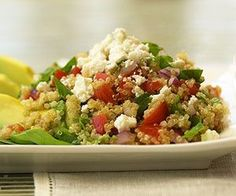 Nutty in flavor, quinoa is high in protein, fiber, and vitamins. A great choice to pair with tomatoes, spinach, and feta cheese for this 30-minute main dish recipe. Add a nice citrus dressing to liven it up even more.
