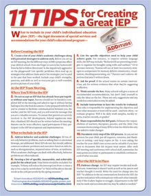 11 Tips for Creating a Strong IEP: What to include in your ADHD child's Individualized Education Plan (IEP) to ensure the proper school accommodations are made throughout his academic life.  Repinned by  SOS Inc. Resources  http://pinterest.com/sostherapy.