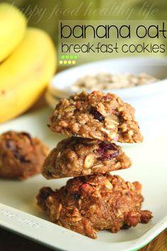 Banana Oat Breakfast Cookies on MyRecipeMagic.com