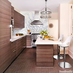 Kitchen of the Month Tour a Modern Kitchen With a Whimsical Surprise applianc, cabinet, hous, tile backsplash, kitchen