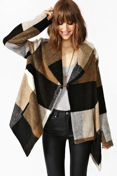 Repin Via: Lauren Fisch #large scale plaid #cozy
