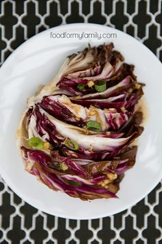 Grilled Radicchio with Honey Ginger Dressing via FoodforMyFamily.com