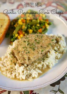 {Freezer Meal} Garlic Parmesan Pork Chops