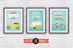 set of three inspirational quote prints by Jan Skácelík