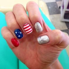 allisonspeese's 4th of July nail inspo. Tag yours with #SephoraNailspotting for the chance to be featured! #Sephora #nails #nailpolish