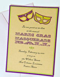 Mardi Gras Ball/Party Invitations