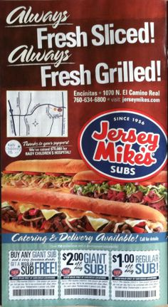 Jersey Mikes print ad