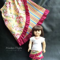 "Maiden Flight Clothing: Debut of Best Friend's Collection (BBF) Collection. You'll love our matching boutique-styled clothing for girls and their dolls. (skirts fit 18"" American Girl and similar 18"" soft-body dolls, as well as Bitty Babies) We also have skirts available for Karito Kid dolls."