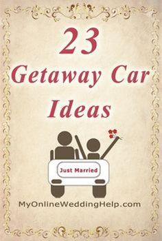 23 wedding getaway car ideas...several unique ideas for a rustic wedding | #MyOnlineWeddingHelp MyOnlineWeddingHelp.com