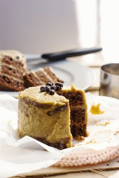 Chocolate Velvet Cake with Mango Cashew Frosting