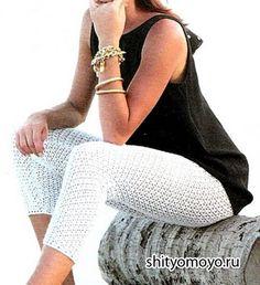 Uncinetto d'oro: Legens bianco! crochet fashion, pink roses, crochet gold, crochet bottom, rose crochet, calça de, white pants, uncinetto doro, crochet pant
