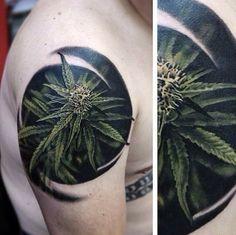 Mary Jane #maryjane #marijuana #pot #weed #tattoo #tat #tattoos #ink #green #trees