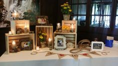 Wedding welcome table wonderfulness at Happy Days Lodge!