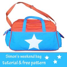 sewbidoo: Simon's weekend tas / Simon's weekend bag