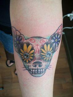 chihuahua sugar skull tattoo is taking my love of sugar skulls too far lol