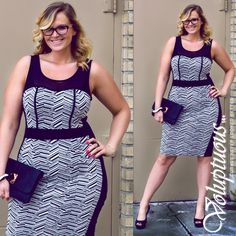 Plus size fashions from our Spring 2014 collection! Get this outfit and others like it at voluptuousclothing.com
