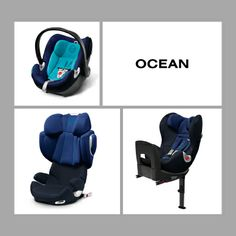 Our new CYBEX child car seat collection in ocean.