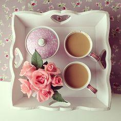 ...coffee & flowers.