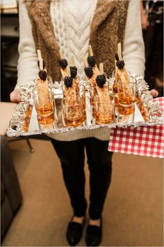 french toast shooters for bridal shower brunch #bridalshower #frenchtoast #weddingchicks http://www.weddingchicks.com/2014/03/06/julia-child-inspired-bridal-shower/