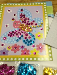 Pediatric Occupational Therapy Tips: Sequin Art Projects are Great for Fine Motor Skills. Help Me Grow