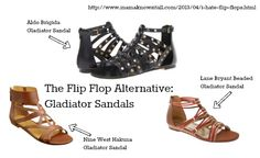 Gladiator sandals are a great alternative to flip flops for simple summer footwear