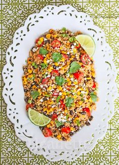 Mexican Corn Quinoa Salad | jeanetteshealthyliving.com