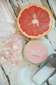 Homemade citrus sugar scrub