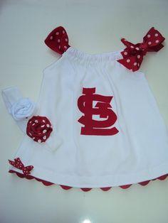 St. Louis Cardinals baby dress! Someday..
