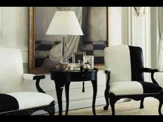 "Ralph Lauren Home Archives, ""Mayfair"", Video of Full Collection, 2008; ""Fashioned with modern elegance and undertones of 1940s glamour, this sophisticated décor features well-tailored furniture deftly layered with silver and pewter metallics, natural woven materials and black, white and cream fabrics."""