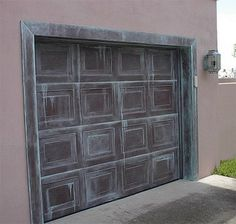 Garage Door Painted Like Patina Copper | Everything I Create