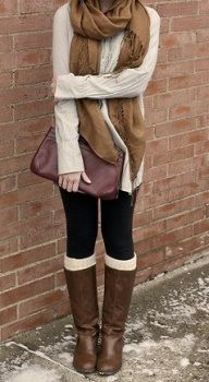 sweater, fall fashions, fall clothes, fall looks, fall outfits, winter outfits, scarv, boot socks, leg warmers