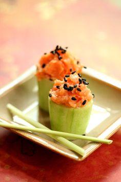 Spicy tuna cups