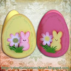 Egg-shaped cards w/ Cricut AP