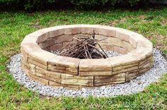 {How to Build} Outdoor Fire Pit via SewWoodsy.com for @Sarah Kellam.com #diy #outdoor #video