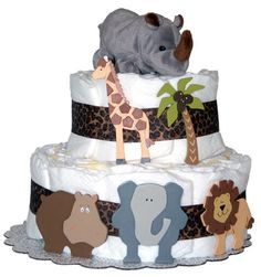 Another jungle theme diaper cake