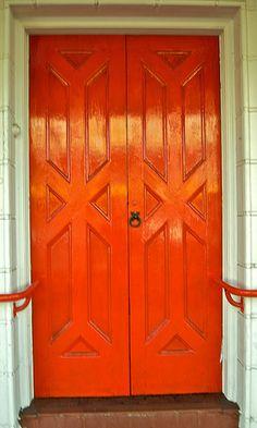 Orange door...love the design.