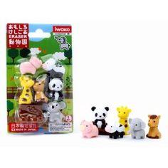 Iwako Japanese Puzzle Take Apart Erasers Zoo Animals Set of 7 iwako japanes, anim eras, japanes puzzl, school suppli, japanes eras, anim set, zoo animals, zoos, anim japanes
