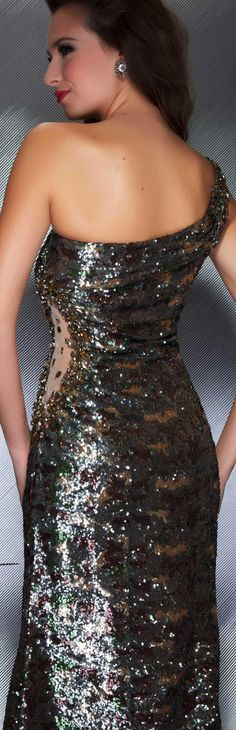 Mac Duggal couture dress camo #glitter #oneshoulder #long #formal #dress #elegant MAC DUGGAL PROM STYLE 50139M BACK