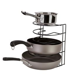 I wonder if this would work in my cupboard? Look at this Black Pot & Pan Rack on #zulily today!