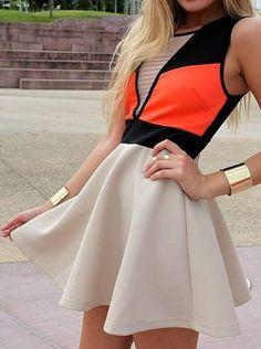 color block #dress
