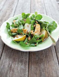 Pear Walnut Halumi salad; Annabelle Langbein